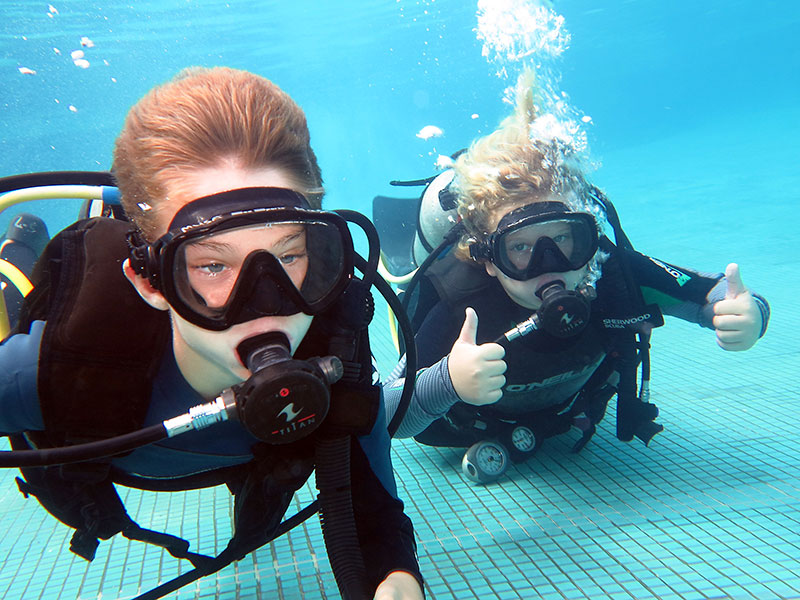 Kids love to scuba Dive